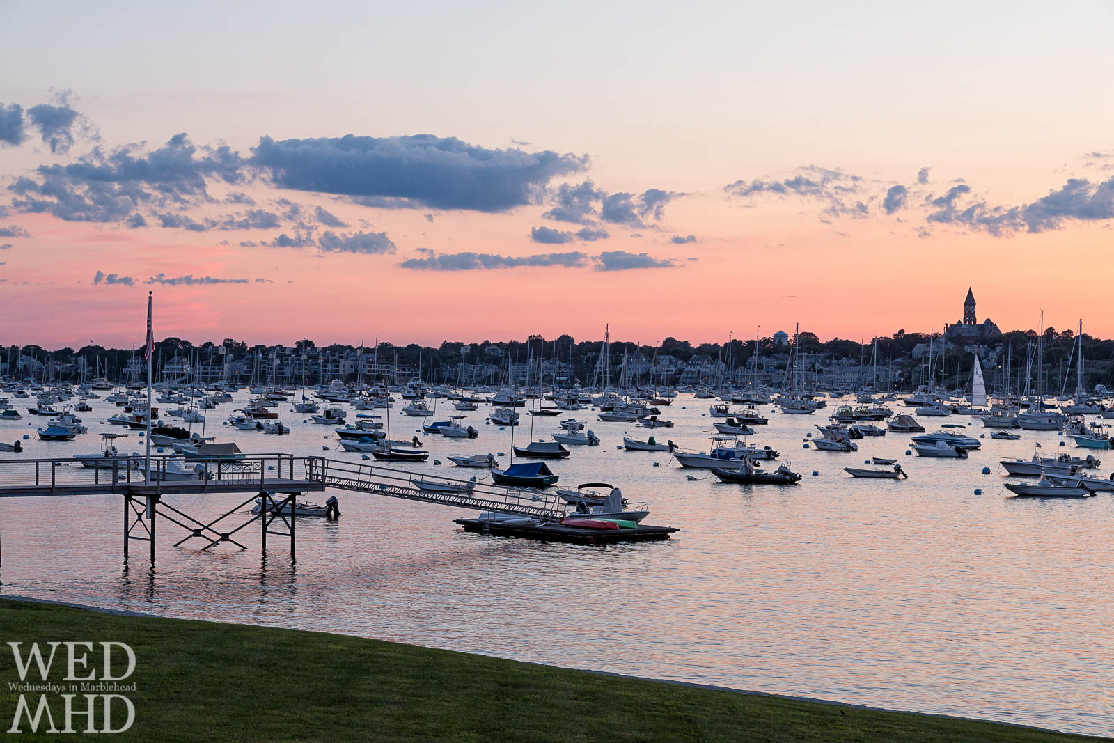 The perfect spot for a sunset can be found on Corinthian Lane in Marblehead