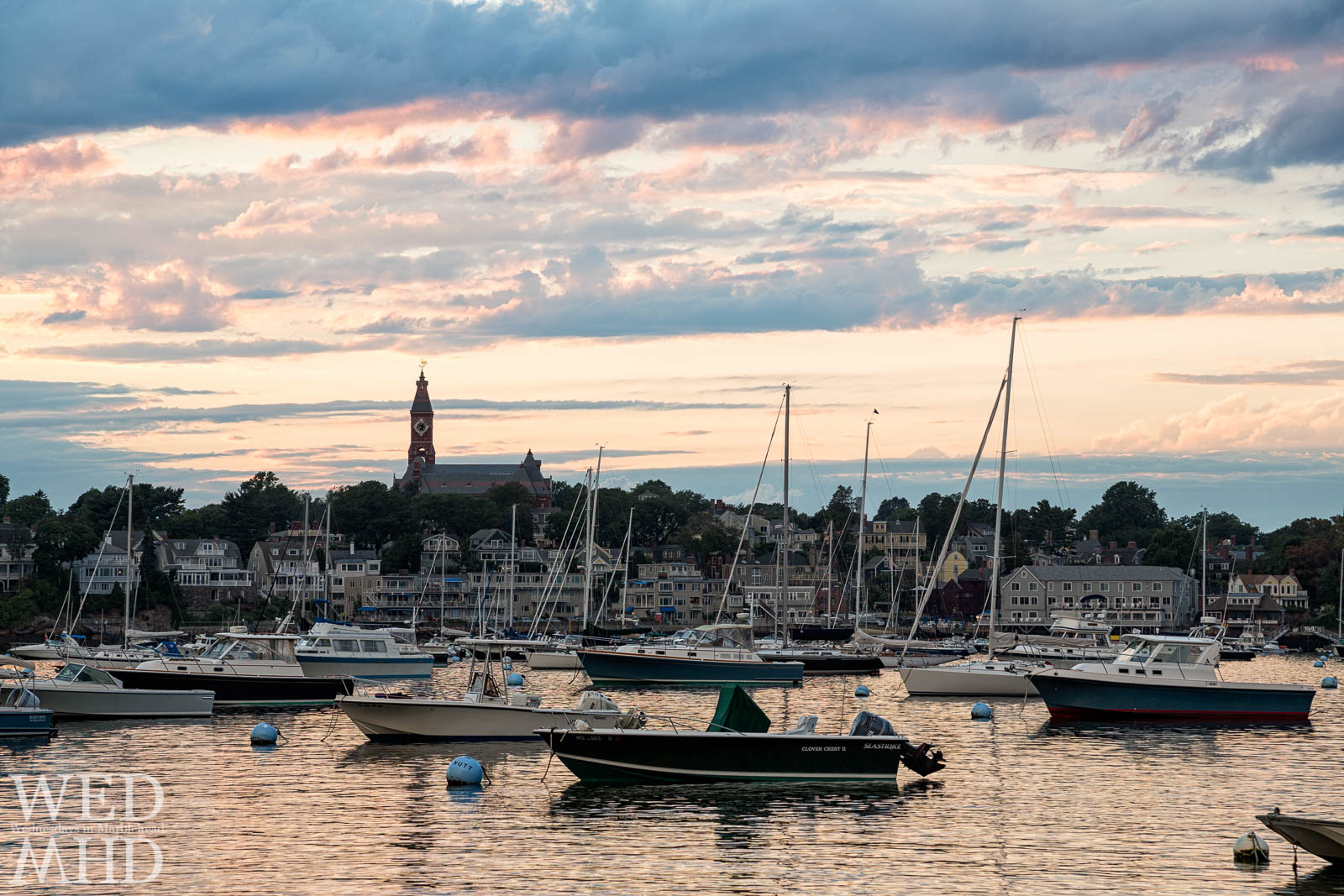 Summer can't come soon enough as this warm sunset image shows the beauty of a full Marblehead harbor