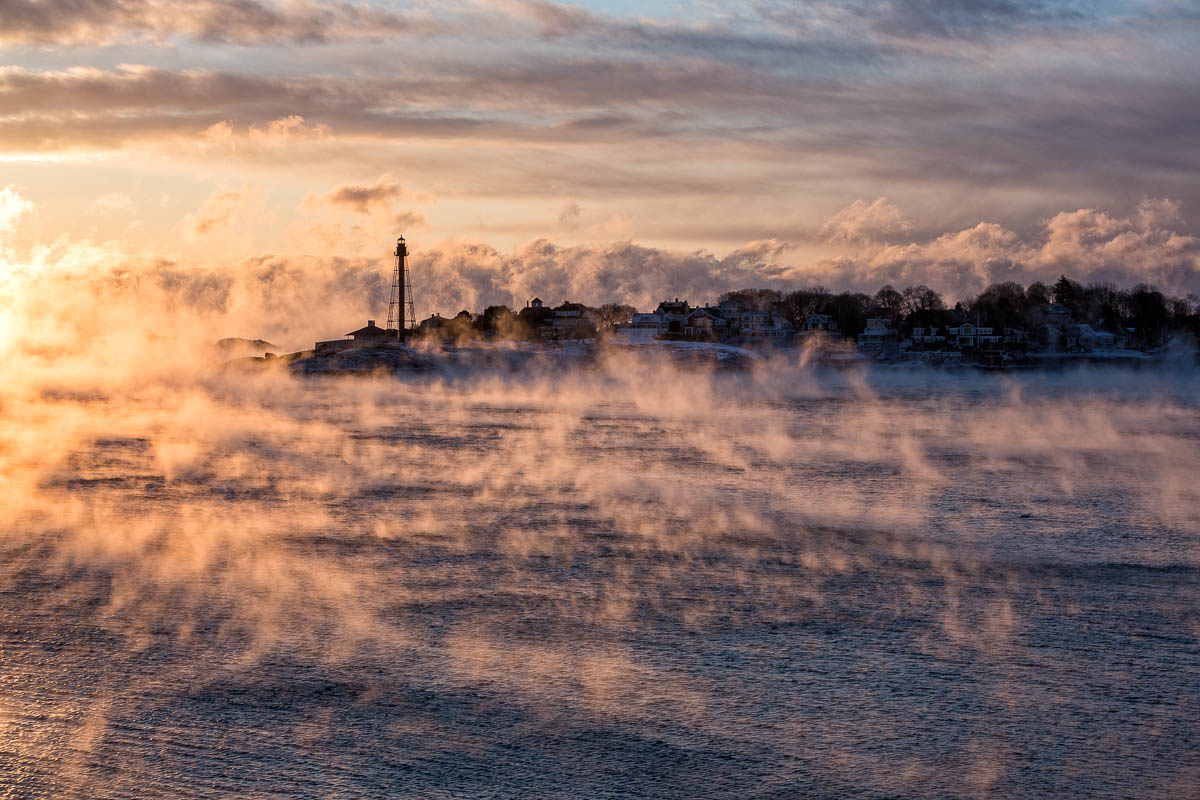 Tendrils of Sea Smoke at Sunrise