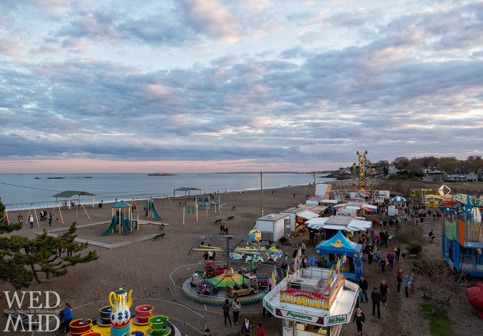 A ride on the ferris wheel at the Marblehead Carnival is timed to capture a sunset from the top of the wheel