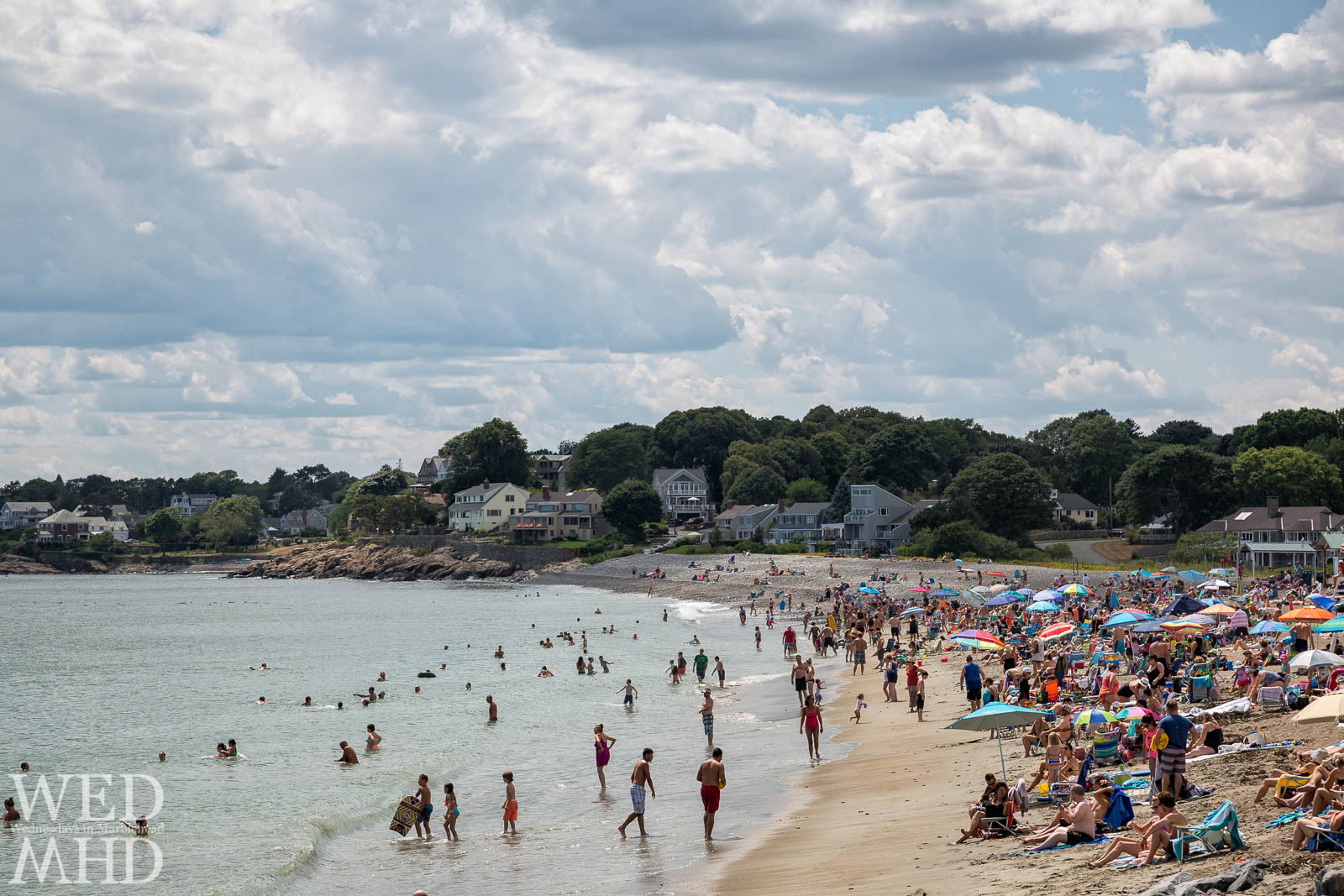 Perfect Summer day on Devereux Beach in Marblehead