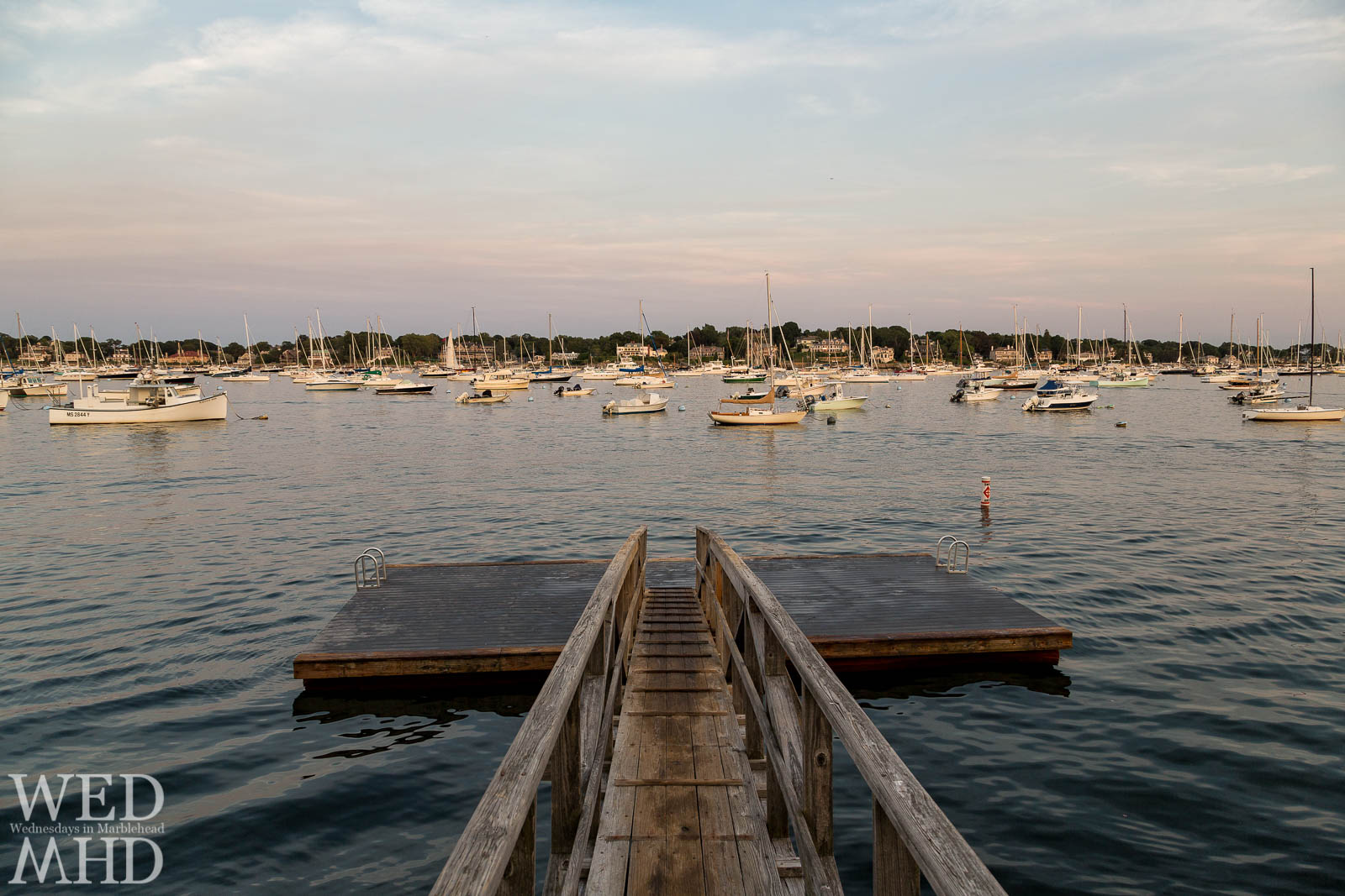 The float at Crocker Park beckons people to enjoy Marblehead Harbor's waters on warm Summer days