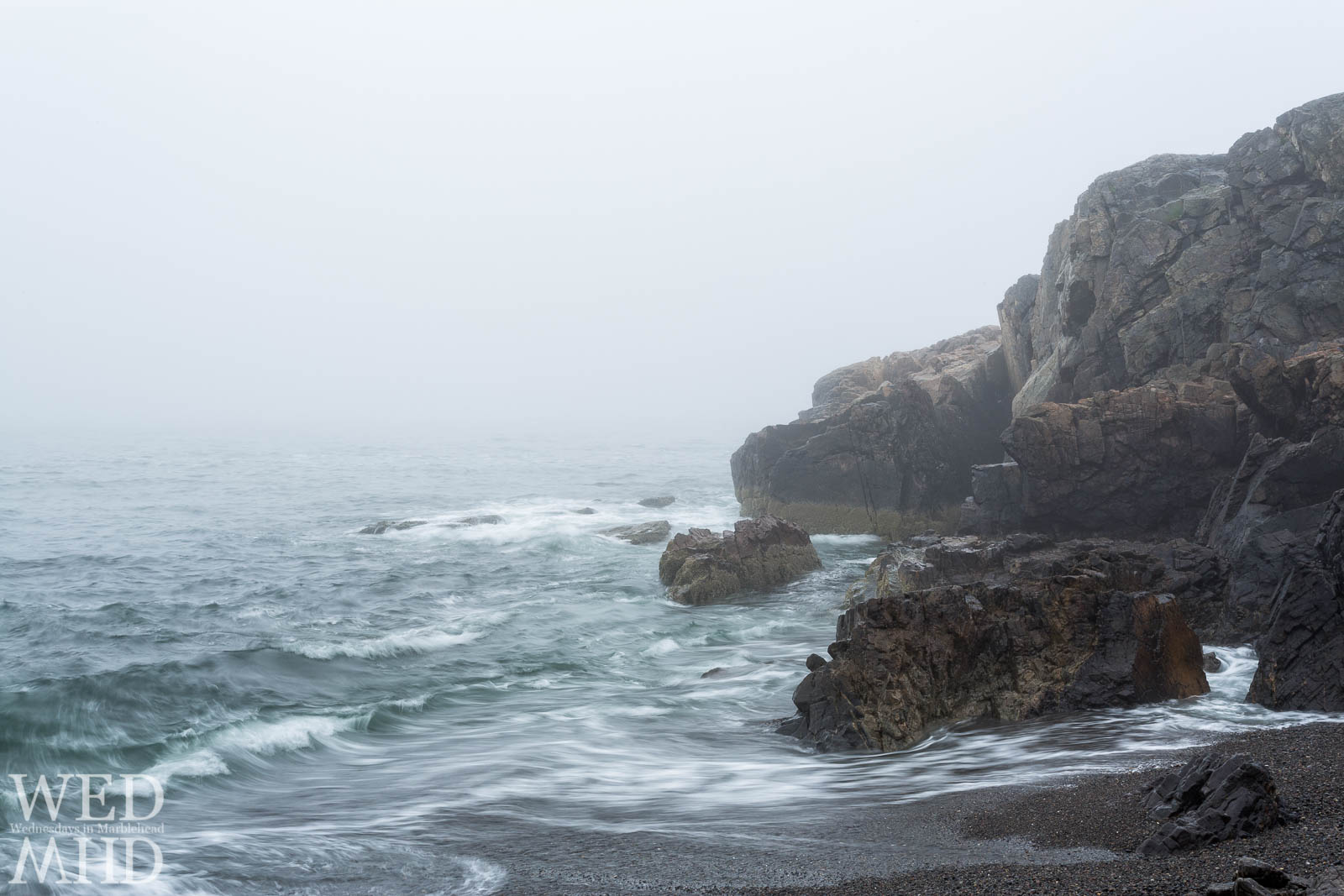 May often brings fog to Marblehead and there is nowhere better to explore those foggy days than at Castle Rock amidst its swirling waters