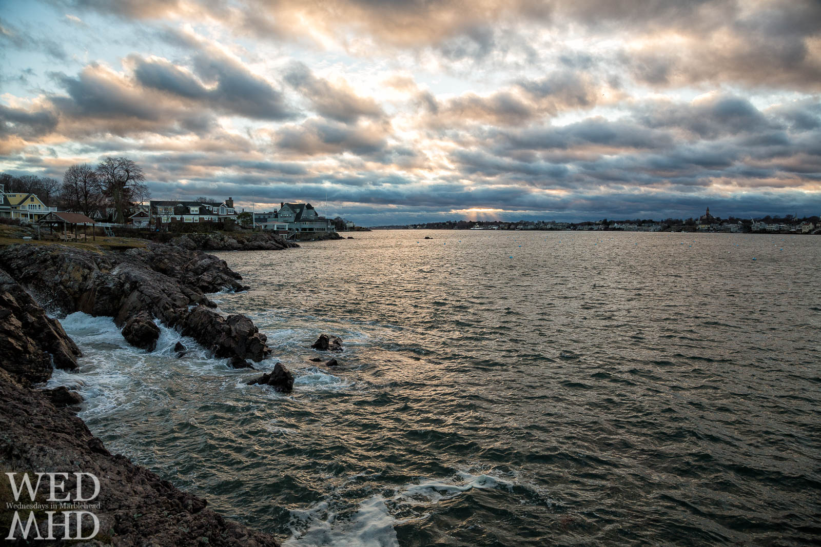 A beautiful sunset takes shape over Marblehead harbor as seen from Chandler Hovey Park.  This view never gets old.