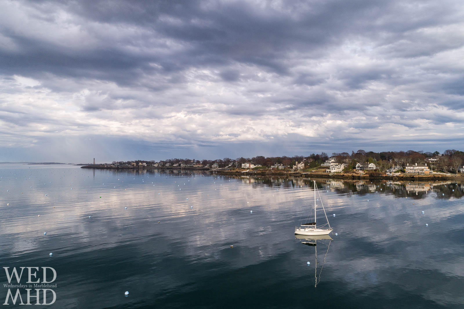 The first sailboat in our harbor is a sure sign that Spring has sprung in Marblehead