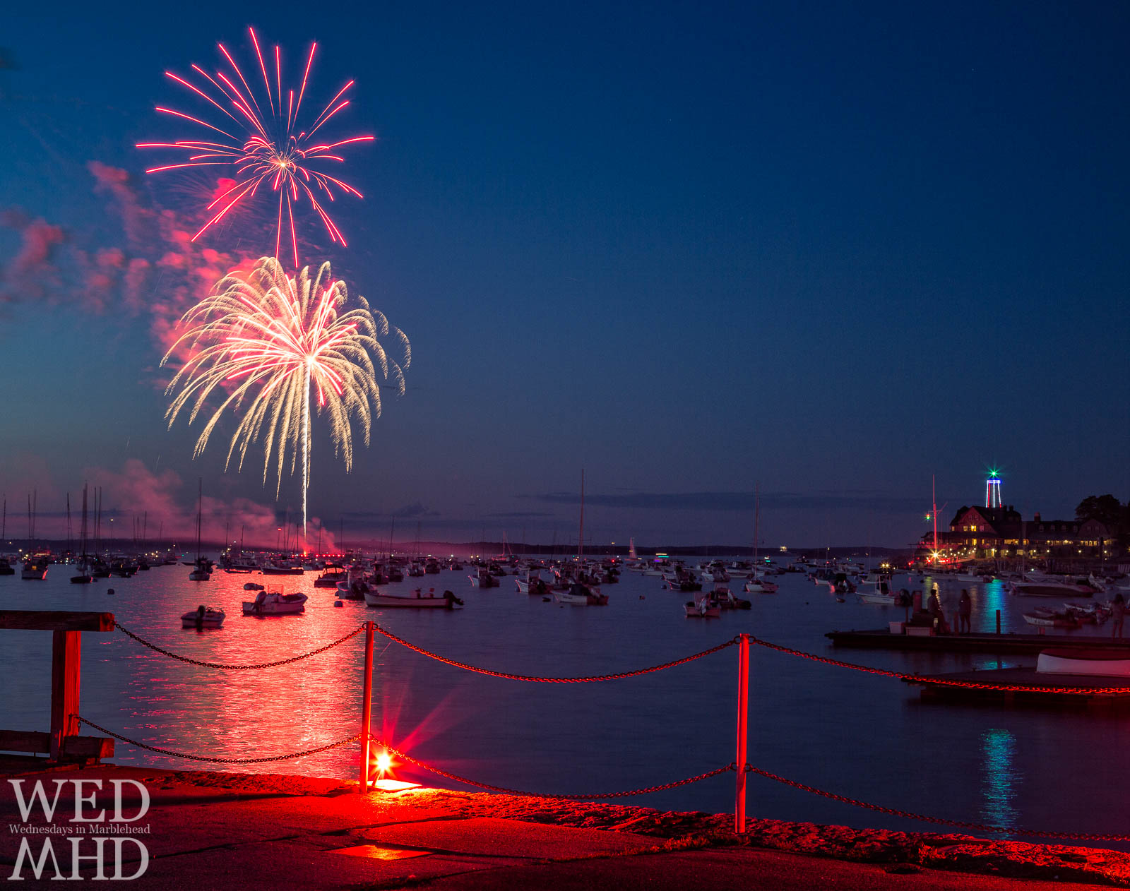 A lone flare, two fireworks and an illuminated lighthouse show why celebrating Independence Day in Marblehead is so special
