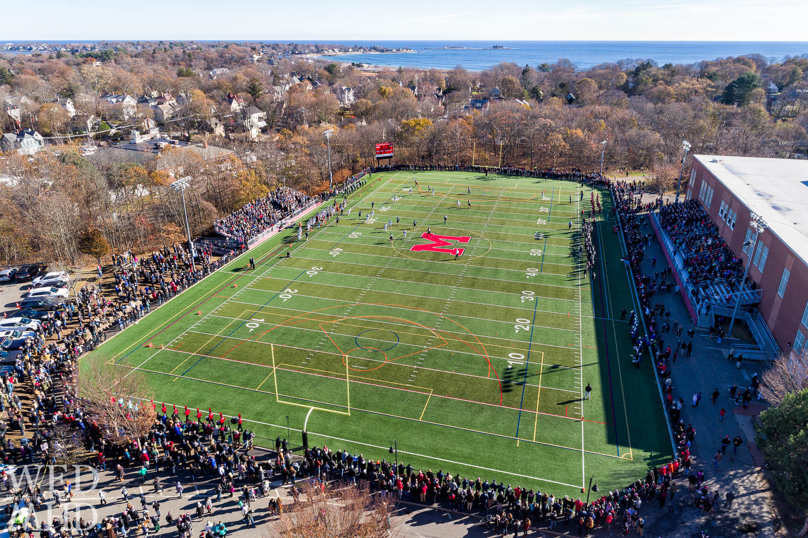 The annual game of Thanksgiving football takes place at Piper field. Marblehead went on to win against Swampscott.