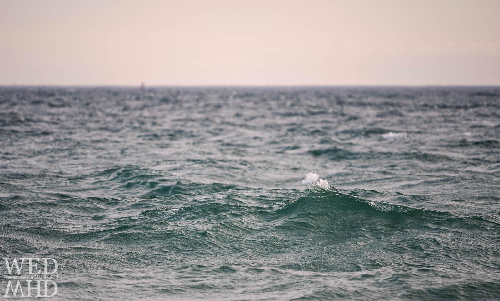 Portrait of a wave off Devereux Beach