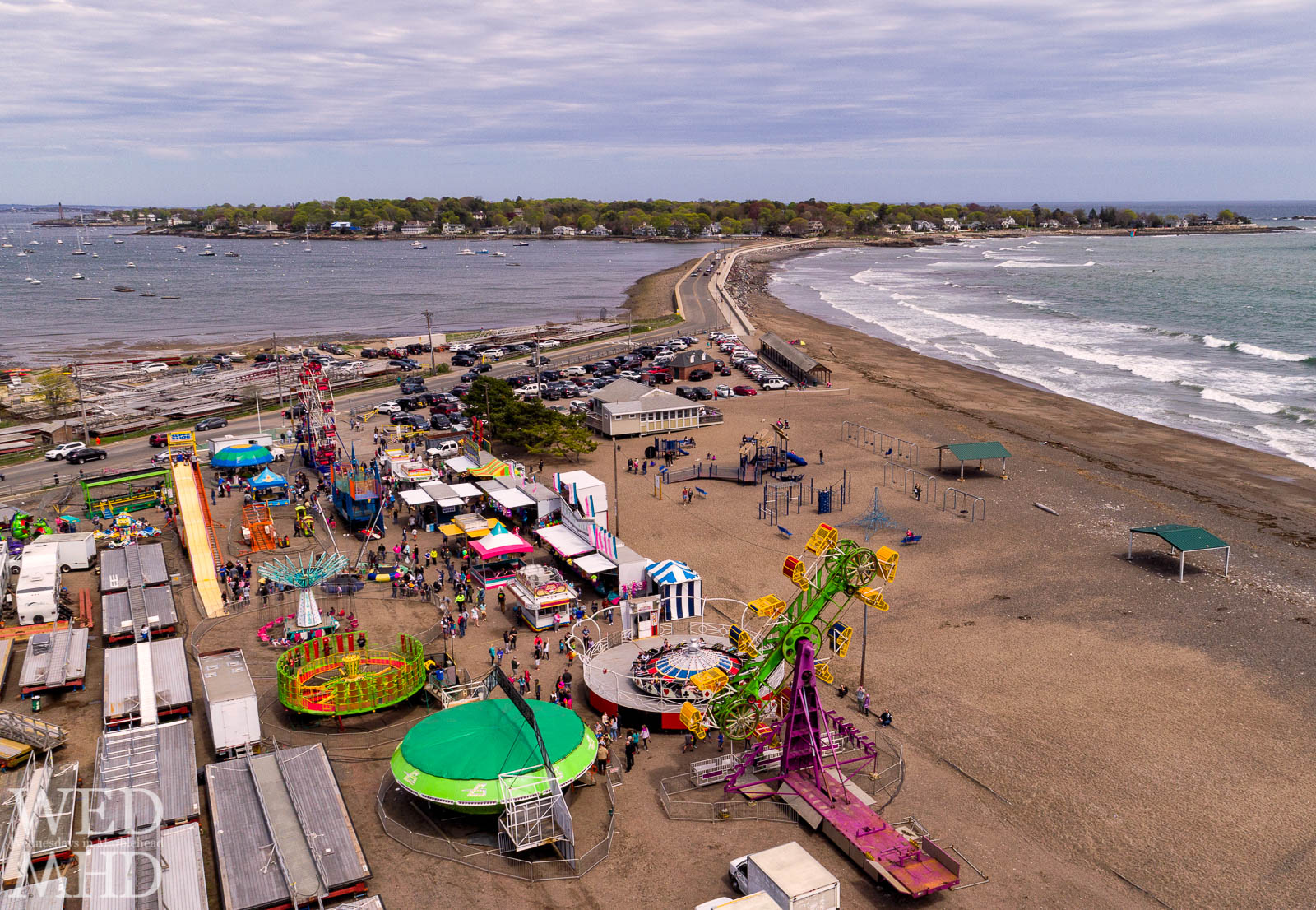 The annual Marblehead carnival takes place on the sandy lot of Devereux Beach. The carnival by the sea starts tonight and goes through the weekend.
