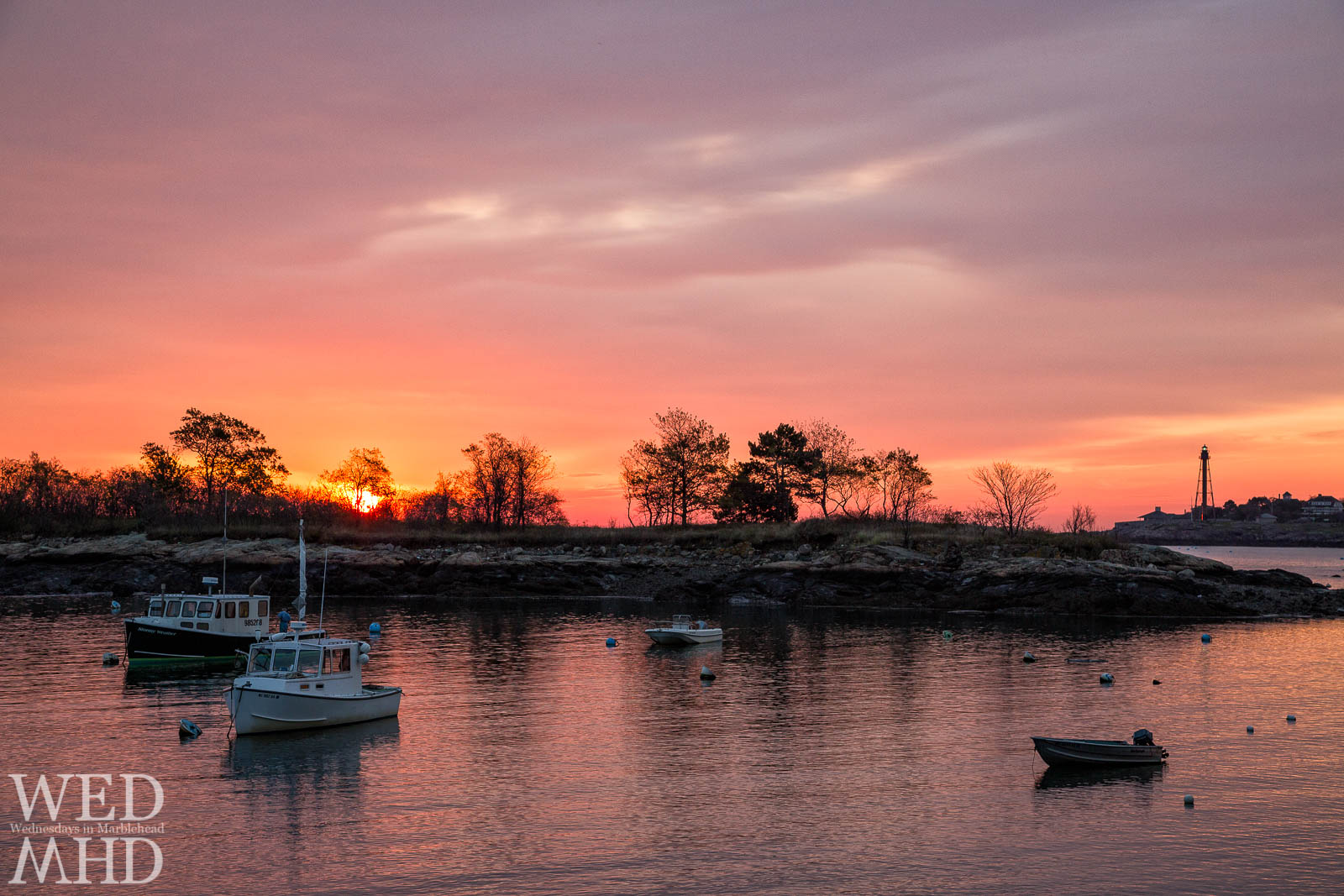 A play on the boat named Stormy Weather getting ready to head out at dawn in Marblehead