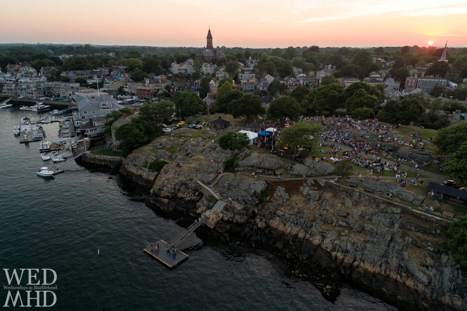 Crocker Park concerts take place at sunset each night during the annual Marblehead Festival of Arts