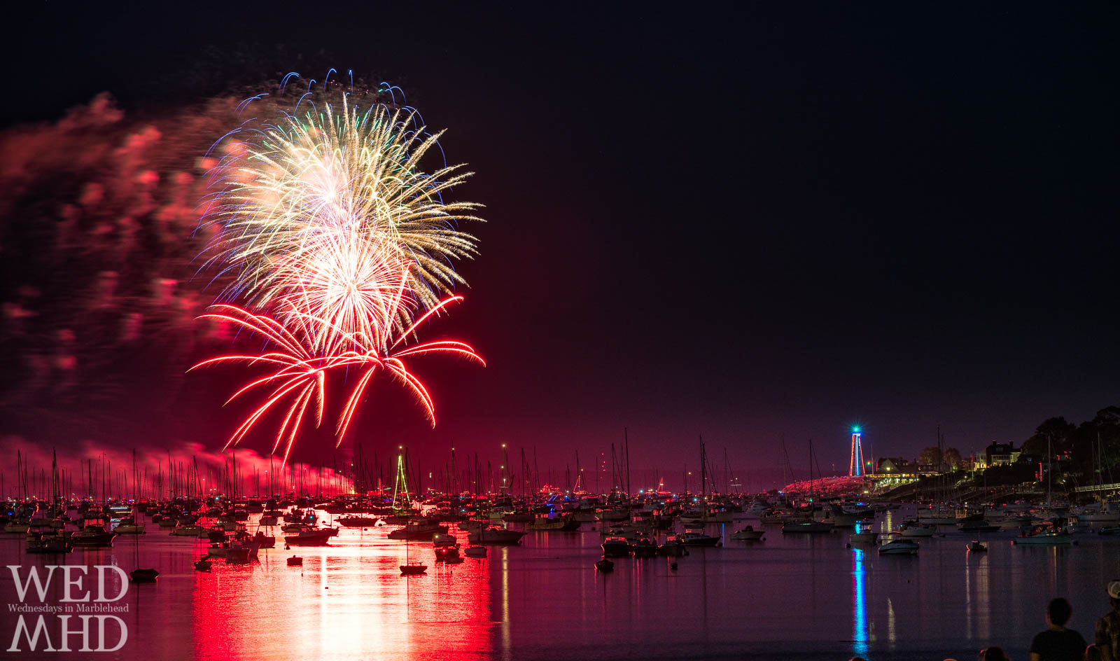 The annual Marblehead fireworks can be viewed from numerous spots around the harbor. This year I decided to capture it from atop the causeway.