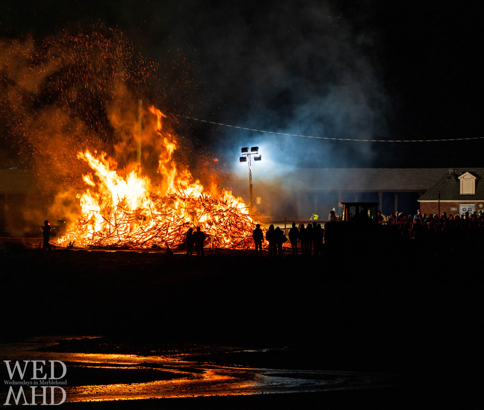 On January 6th, residents of Marblehead gathered to watch collected Christmas trees set aflame in the annual Epiphany bonfire at Riverhead Beach