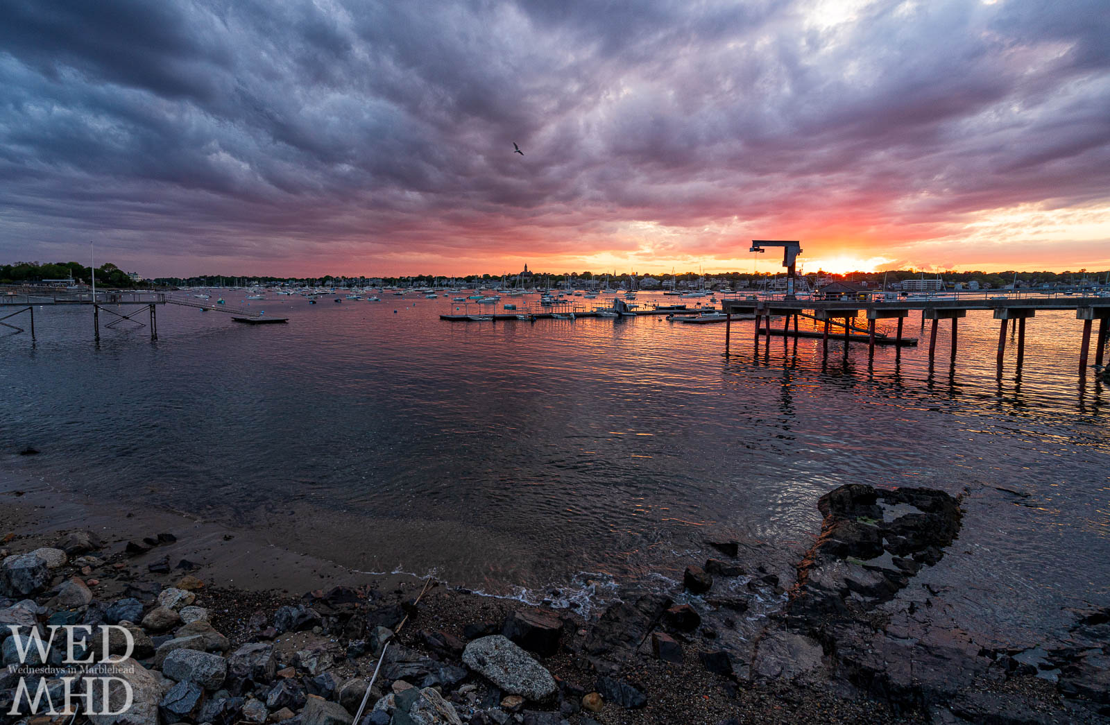 A perfect end to a perfect weekend in Marblehead as this Memorial Day sunset took shape off Corinthian Lane on the unofficial first weekend of summer.