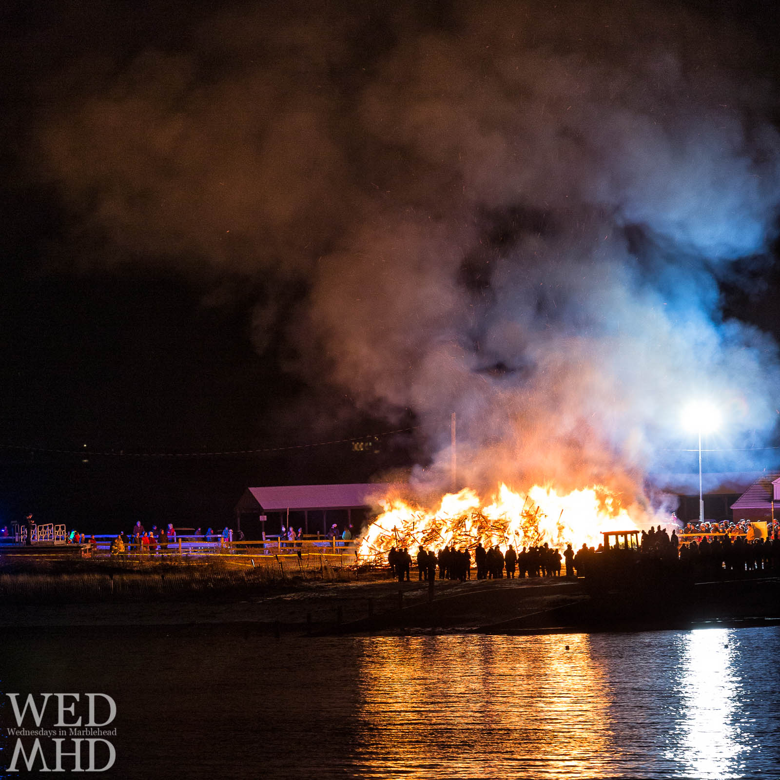 The Epiphany tree burning takes place tonight (Monday, January 6) at Riverhead Beach with Christmas trees set ablaze