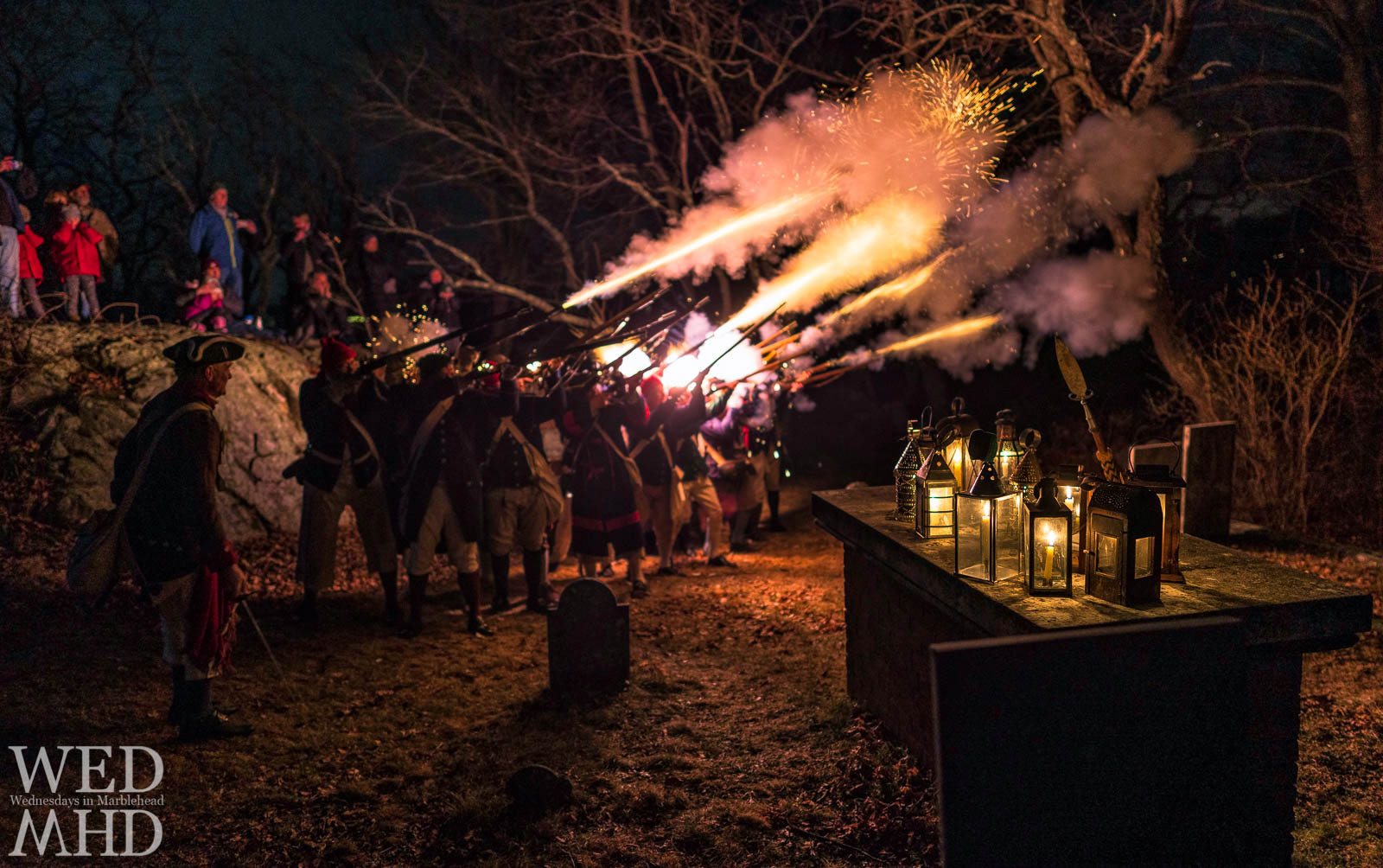 General John Glover was honored tonight on the anniversary of his death with a march of his regiment from Old Town House to Old Burial Hill