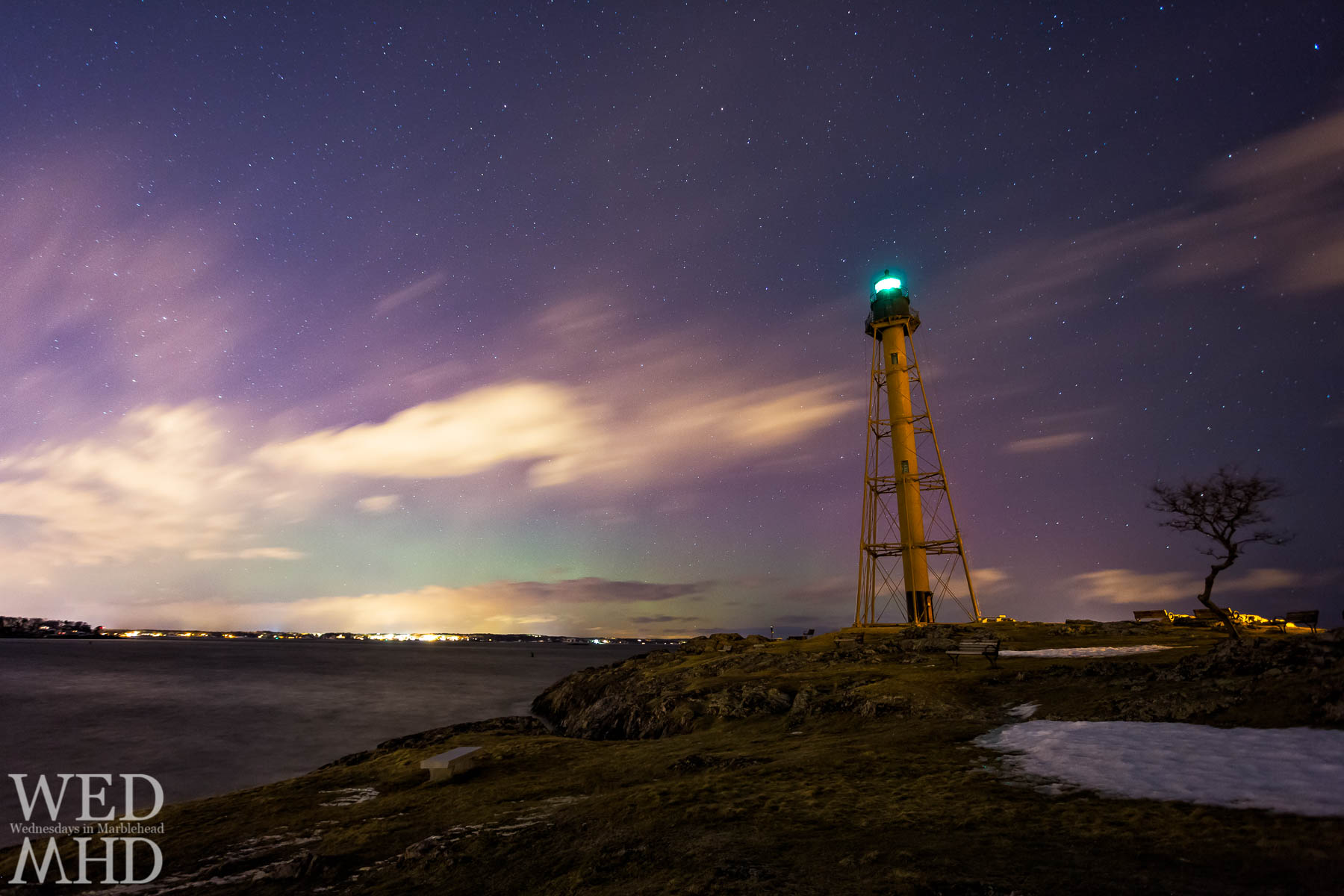 In 2015, the aurora borealis appeared in the night sky over Marblehead on two occasions as a result of strong solar storms