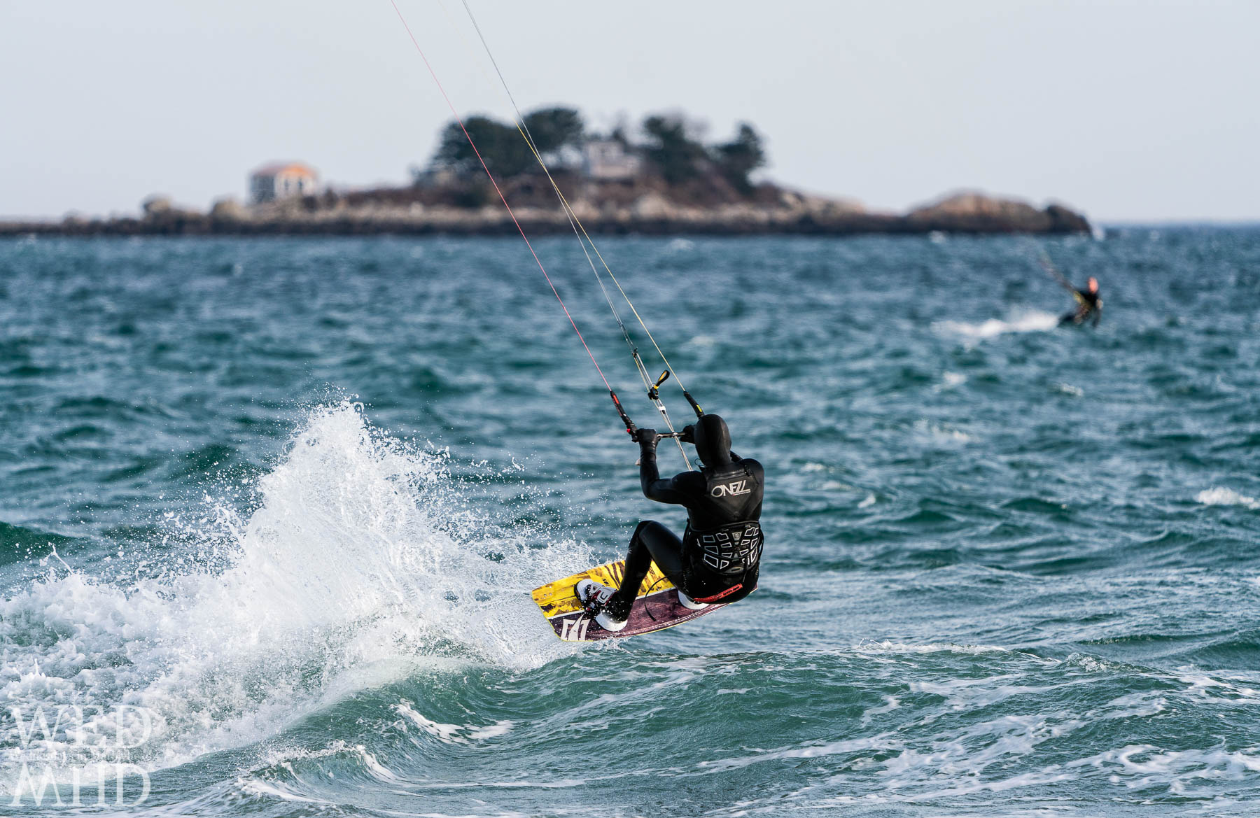 After yesterday's storm, hoping to catch a few shots of kite surfers taking advantage of what winds remain