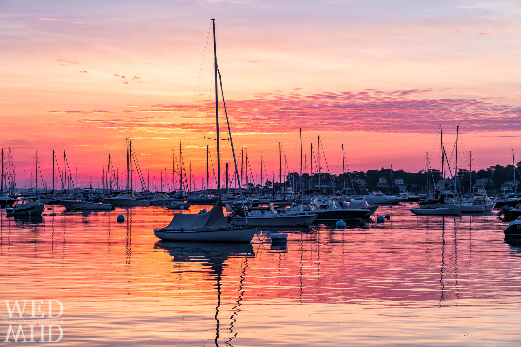 There's nothing like a harbor sunrise when the moorings are filled and the light reflects on the still waters