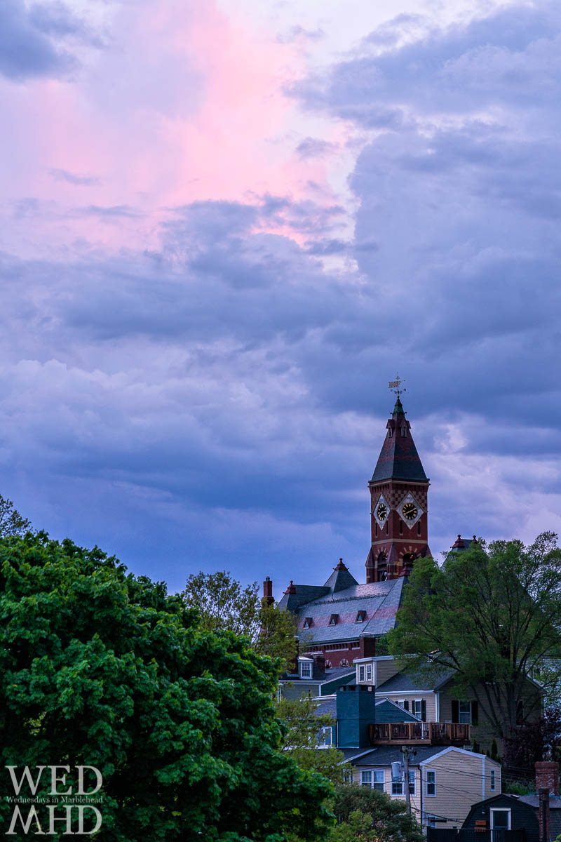 A familiar composition from Crocker Park captured a hint of pink light over Abbot Hall