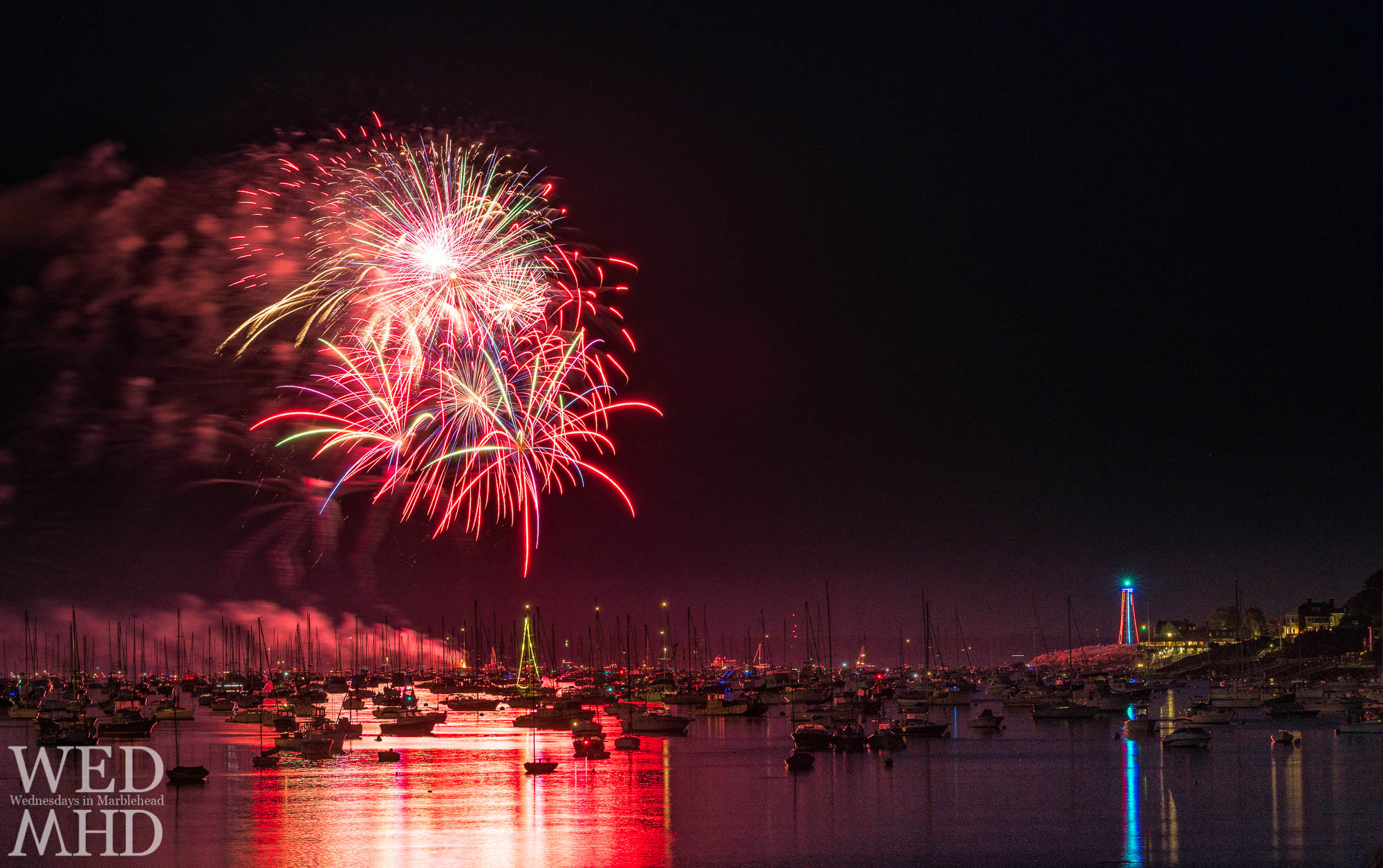 For only the second time in my last 12 years here, the Marblehead fireworks show has been cancelled. I'll miss seeing fireworks over the water with boats taking up every mooring.