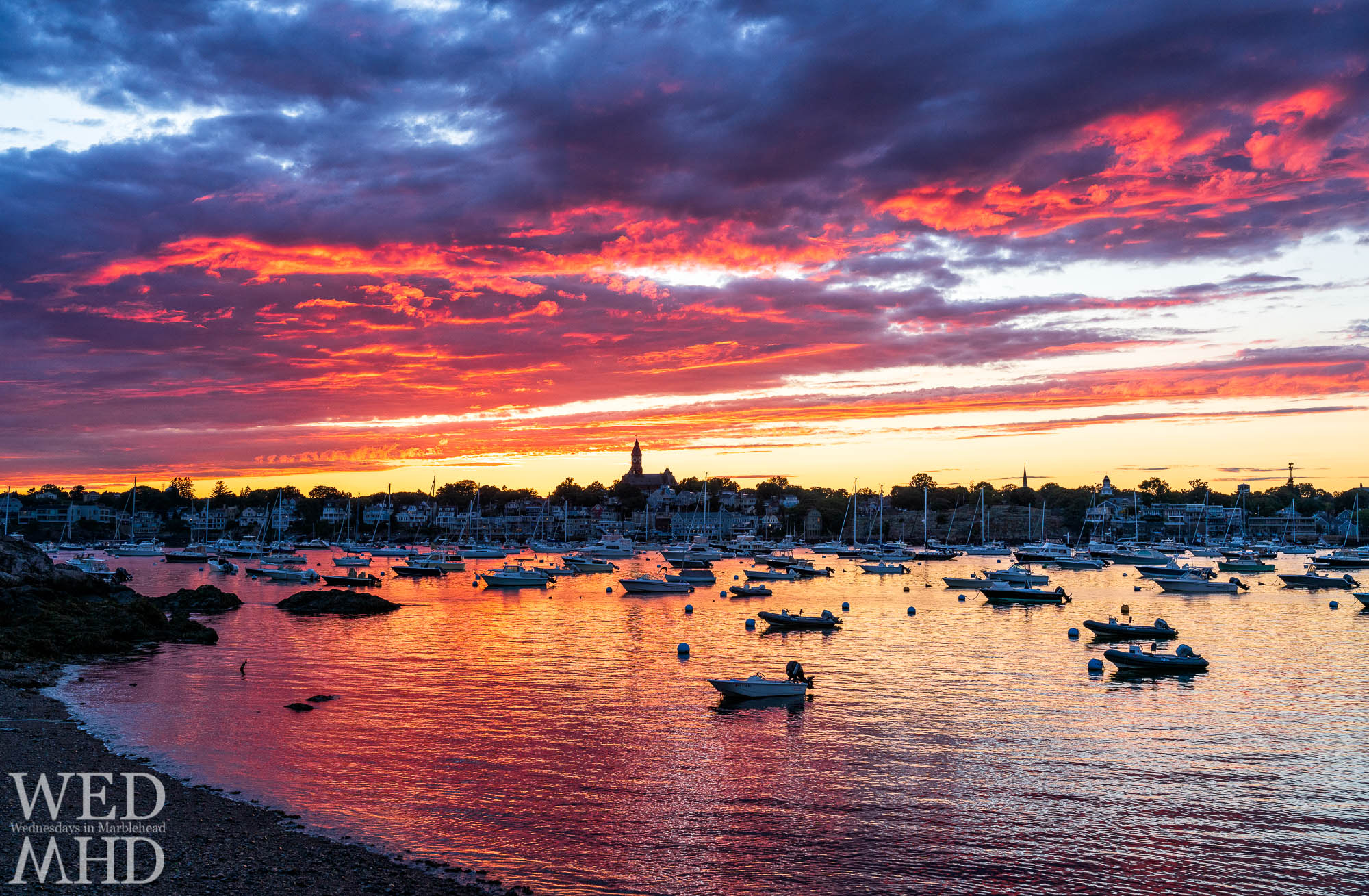 My last stop chasing the light after a summer storm passed over Marblehead was at the Pleon yacht club where I caught a nice afterglow in the evening sky
