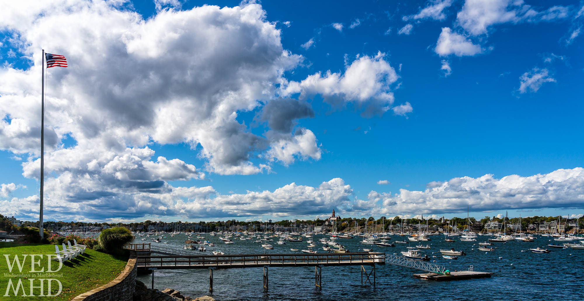 A mid-afternoon drive became a ring around the neck with stops such as this one on Corinthian Lane to take in the last of the summer views on Marblehead harbor