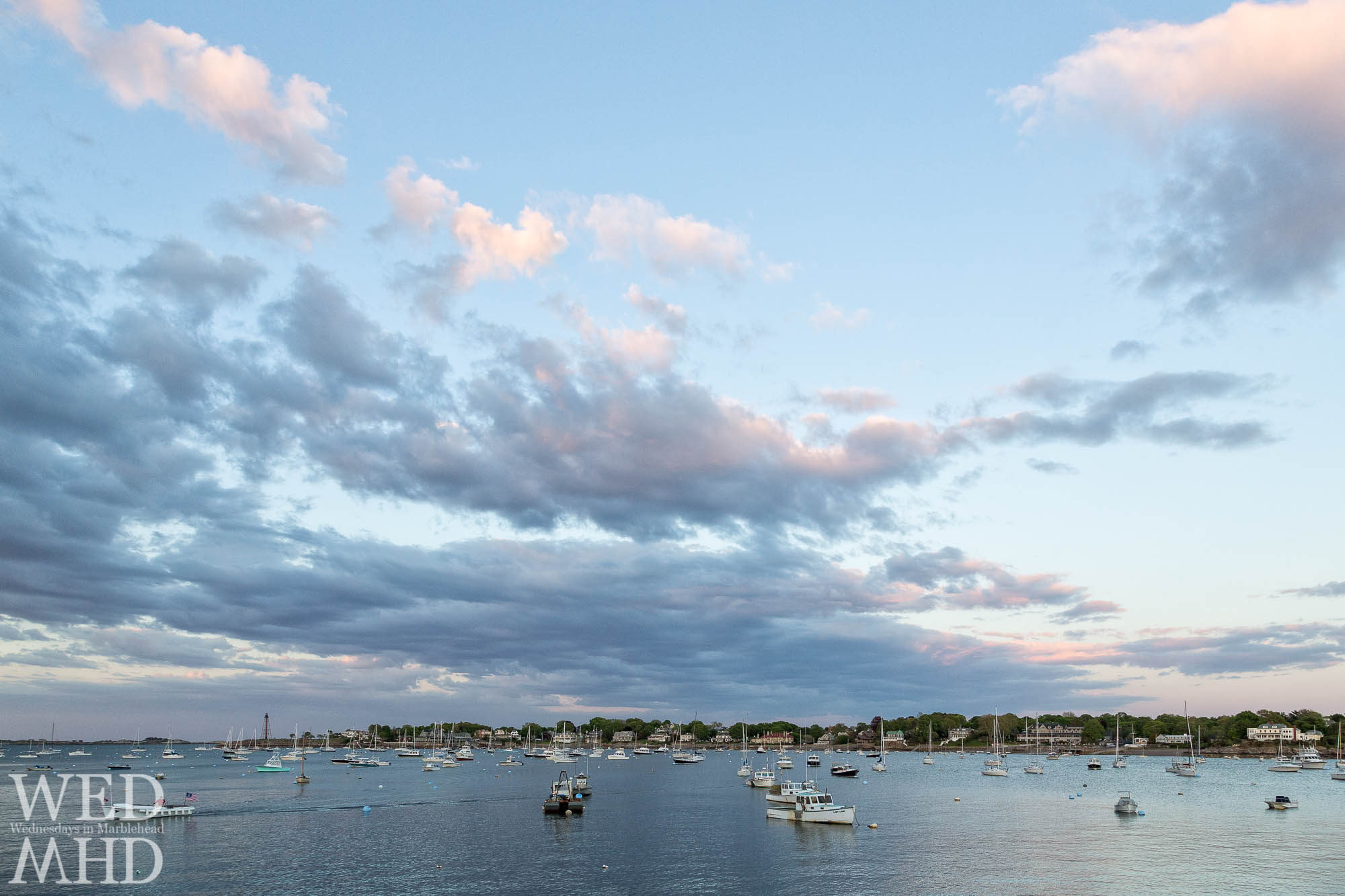 The harbor fills up quickly on these May days in Marblehead