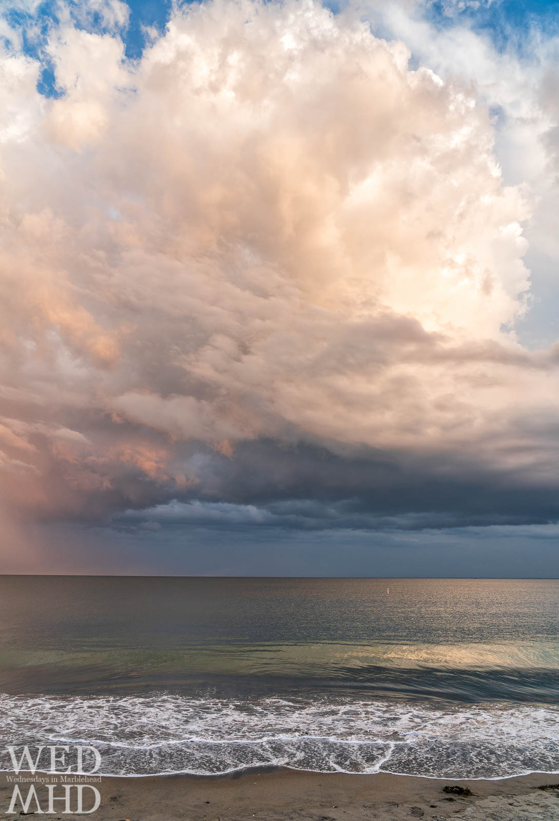 Last night at Devereux Beach featured huge cloud formations but that ocean glow might be my favorite part of this shot