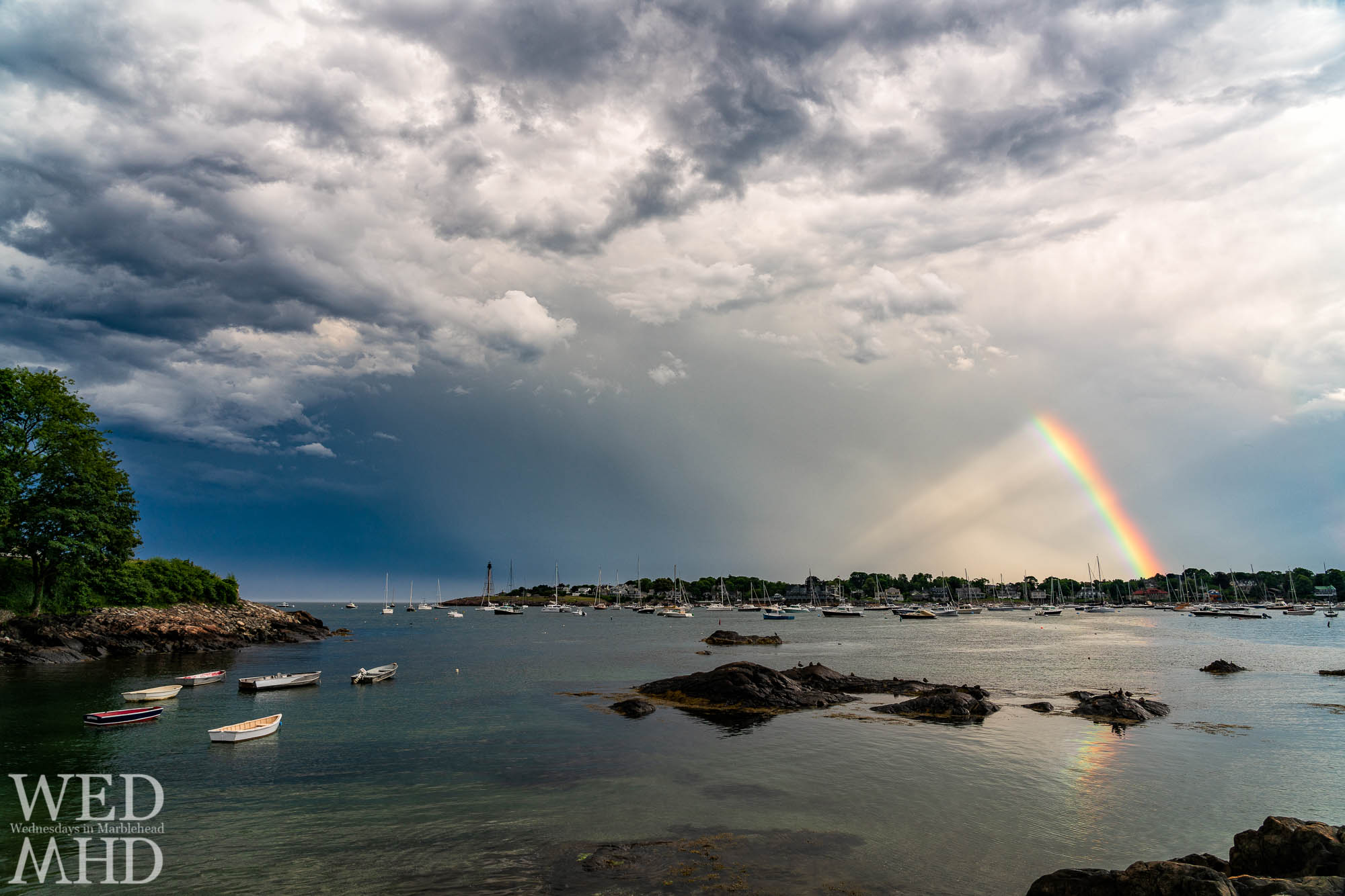 Once the lightning stopped and the rain moved out, the sun came out and lit up this rainbow after the storm