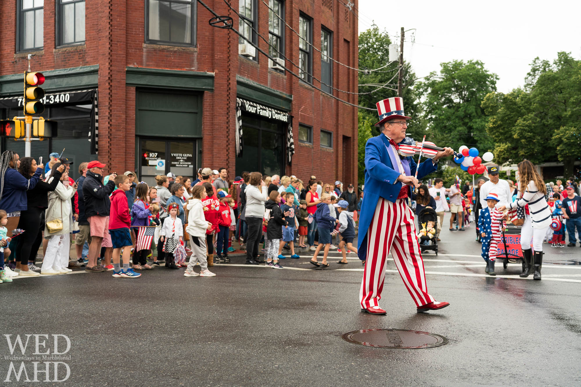 Uncle Sid leads the annual Horribles Parade down School Street in Marblehead after a one year hiatus