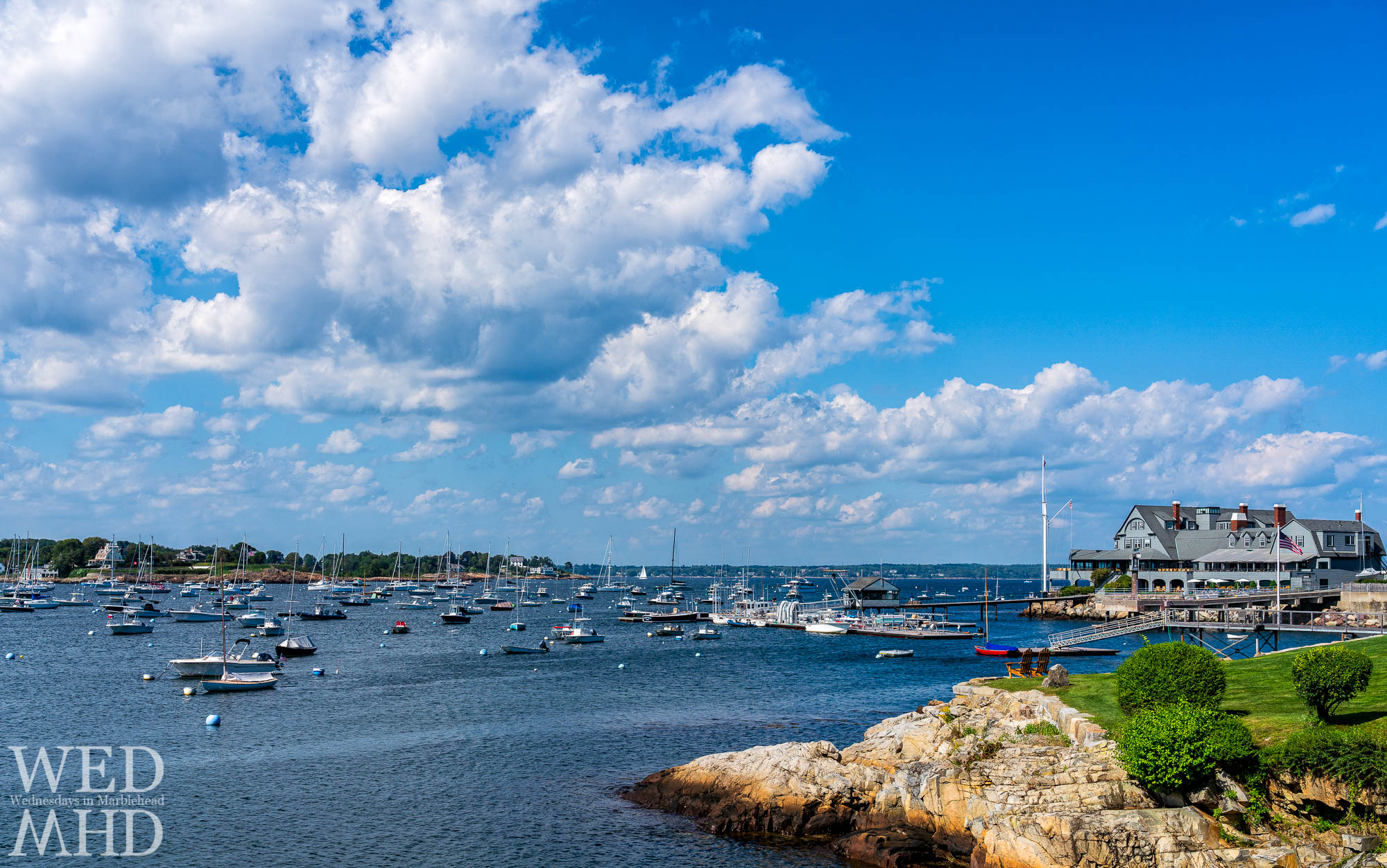 Another favorite public way on Marblehead Neck is Peabody Lane which offers a great view of the Corinthian Yacht Club